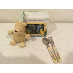 Classic Pooh Cup Set / Fork...